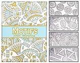 infactory Ausmalbuch: Malbuch für Erwachsene Motifs mit 32 abstrakten Motiven und Formen (Ausmalbücher für Erwachsene)
