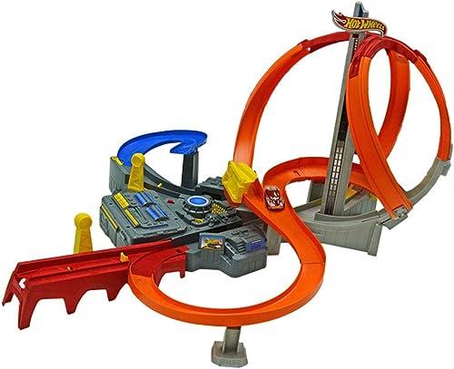 Miniaturmodelle Das Eisenbahnwagenspielzeug der Kinder elektrisches Schleifenspurenspielzeug Jungenlegierungsspielzeug intellektuelles Entwicklungsspielzeug (Farbe   rot, Größe   62.5  7.5  40.5cm)