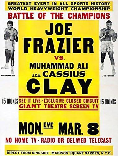 Max 71% OFF Joe Frazier vs Muhammad Colorado Springs Mall Ali 1971 Promotion - Poster Fight