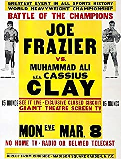 ali vs frazier fight poster