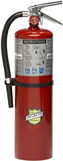 "Buckeye 11340 ABC Multipurpose Dry Chemical Hand Held Fire Extinguisher with Aluminum Valve and Wall Hook, 10 lbs Agent Capacity, 5-1/8"" Diameter x 7-3/4"" Width x 21"" Height"