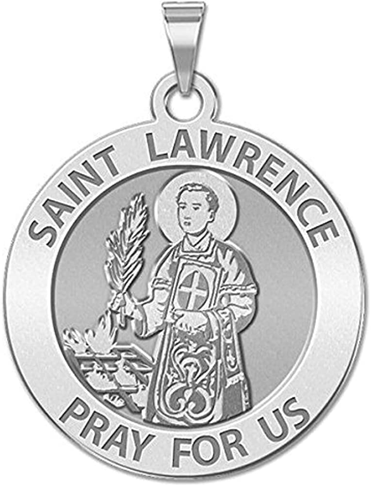 PicturesOnGold.com Finally popular brand supreme Saint Lawrence Religious Medal 3 - Inch 4 Siz