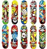 QNFY Finger Skateboard, 5 Pièces Mini Planche à roulettes Skate Boarding Jouets Jeux de Sport Cadeau pour Enfants