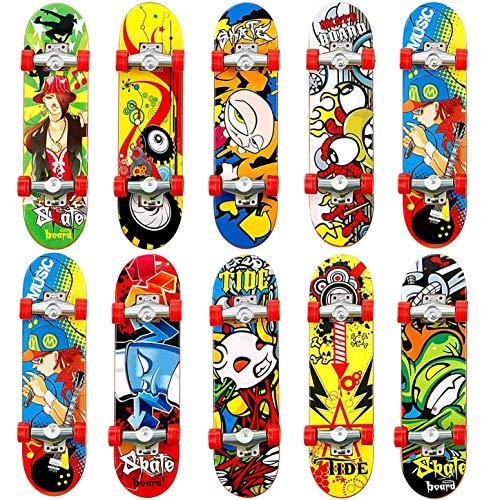 QNFY Finger Skateboard, 5PCS Professionelle Mini Fingerboards Skatepark Spielzeug für Kinder Spielen Oder ALS Finger Skateboard Dekoration