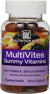 Nutrition Now Multi Vites Gummy Vitamins, 70-Count Bottles (Pack of 2)