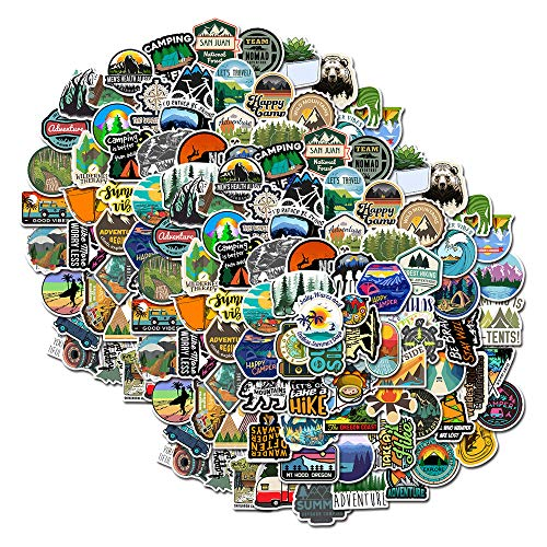 200 Pcs Outdoor Adventure Stickers Waterproof Vinyl Camping Nature Decals for Cars Laptop Skateboard Water Bottle Luggage