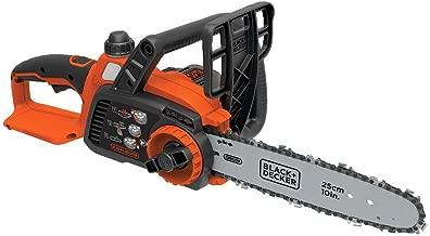 BLACK+DECKER 20V MAX Cordless Chainsaw, 10-Inch, Tool Only (LCS1020B), black