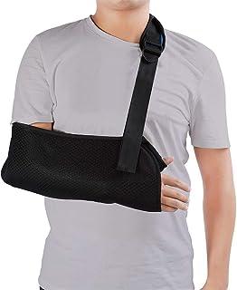 Universal Arm Sling, Adjustable Soft Padded Shoulder Strap for Adults Unisex Black