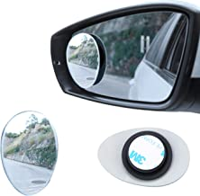 LivTee Blind Spot Mirror, Oval HD Glass Frameless Convex Rear View Mirror with wide angle Adjustable Stick for Cars SUV and Trucks, Pack of 2