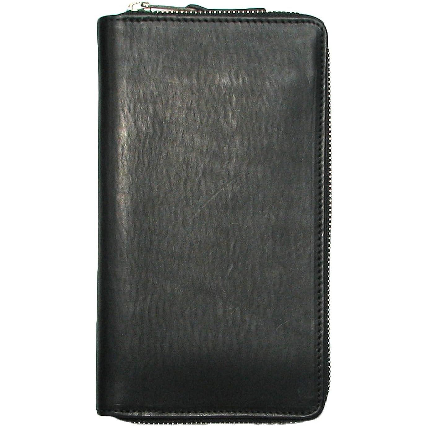 モナリザ役立つ利用可能イタリアンレザー本革トラベルウォレット長財布