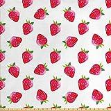 ABAKUHAUS Erdbeere Gewebe als Meterware,
