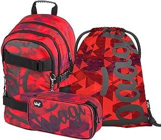 Set de mochila escolar para niña, 3 piezas, mochila escolar a partir de 3ª clase, mochila escolar con correa para el pecho, mochila ergonómica