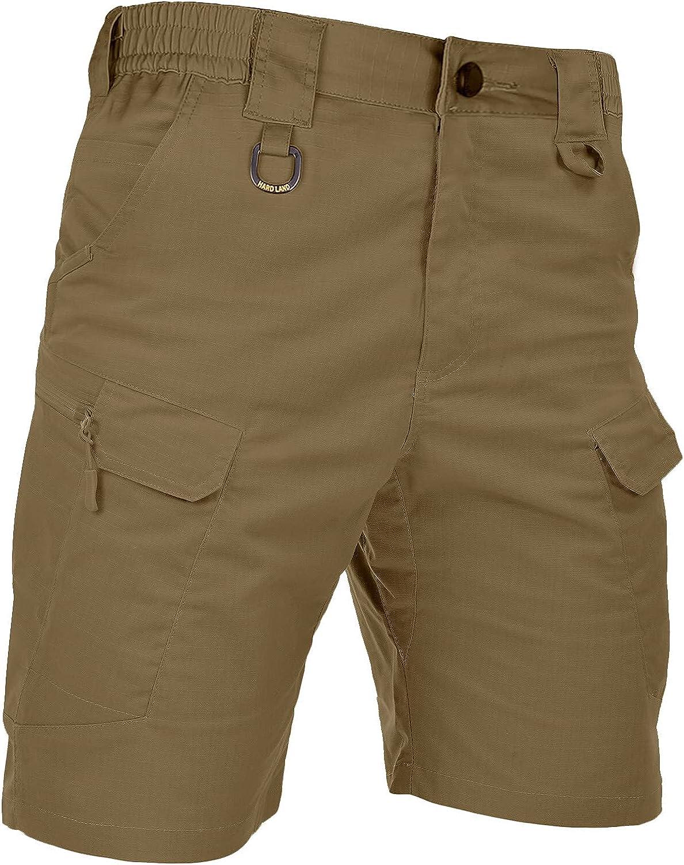 HARD LAND Men's Tactical Cargo Finally popular brand Overseas parallel import regular item Shorts 9.5 Rips Inches Waterproof