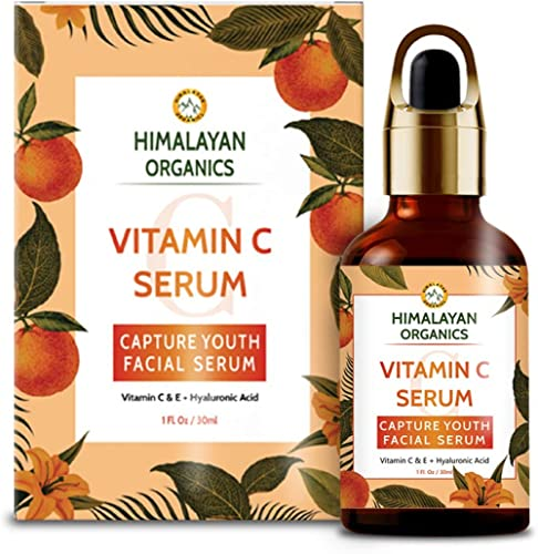 Himalayan Organics Vitamin C Serum for face Capture Youth with Hyaluronic Acid and Vitamin E - 30ml - Brightening & Night Skin Repair product image