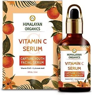 Himalayan Organics Vitamin C Serum for face Capture Youth with Hyaluronic Acid and Vitamin E - 30ml - Brightening & Night Skin Repair