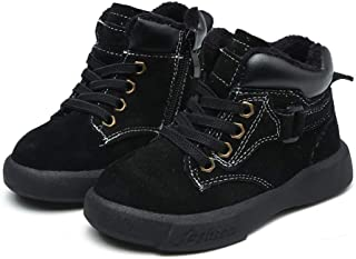 SandQ baby Boys Black Leather Boots