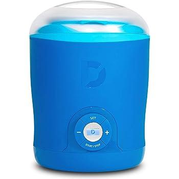 Dash Greek Yogurt Maker Machine with LCD Display + 2 BPA-Free Storage Containers with Lids, Blue