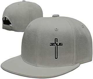 Casual Men Women Christian Jesus Cross Flat Ajustable Snapback Cap