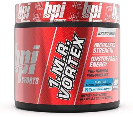 Amazon Com Bpi Sports 1 M R Vortex Pre Workout Powder Blue Raz 5 3 Ounce Health Household