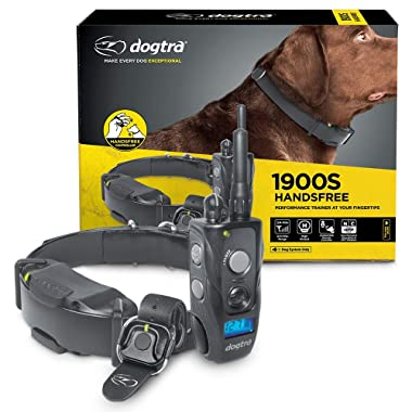 Dogtra 1900S HANDSFREE Discreet and Immediate Control 3/4-Mile IPX9K Waterproof High-Output Ergonomic Remote Dog Training E-Collar