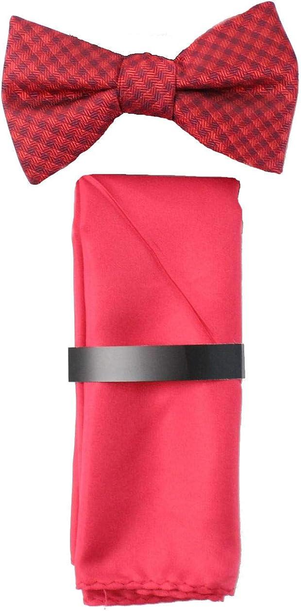 Alfani Spectrum Bow Tie & Pocket Square Set Red