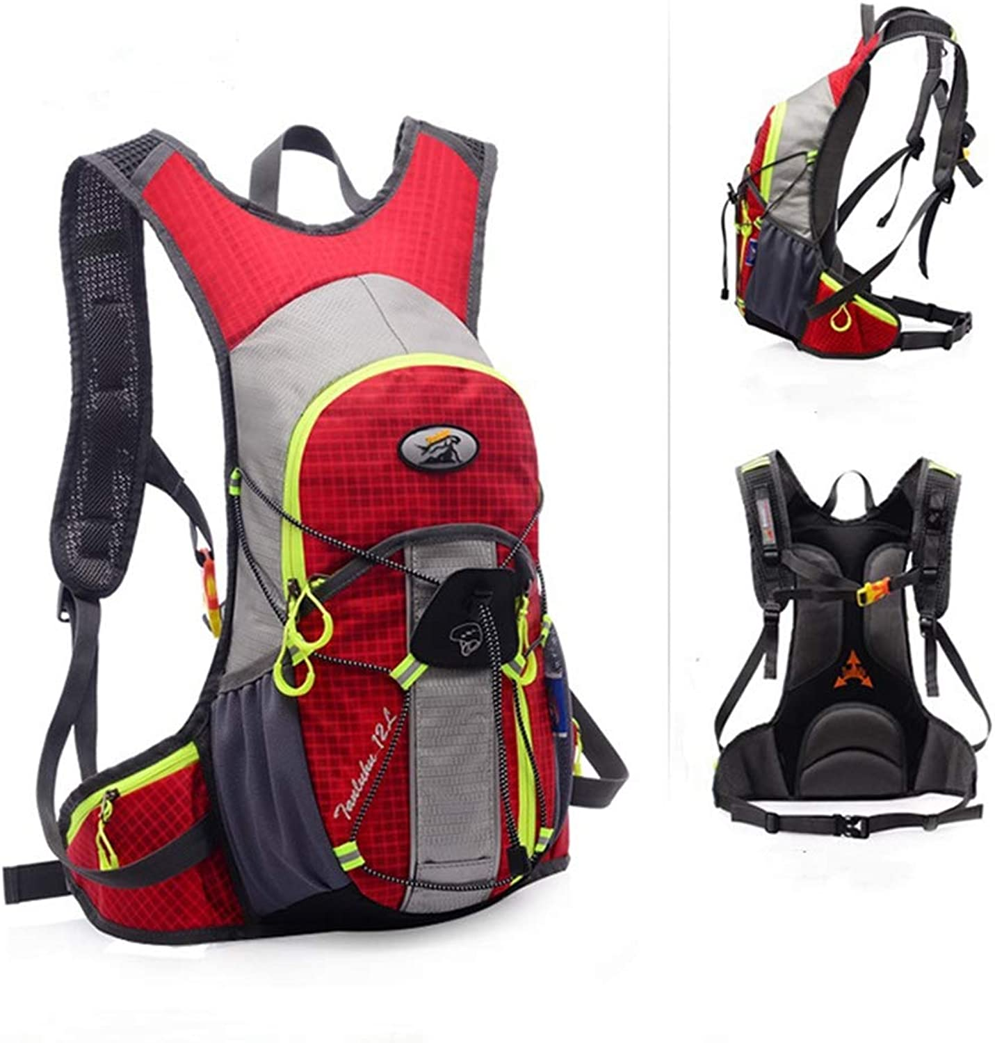 Professional Cycling Backpack, Bicycle Waterproof Backpack, Breathable Large-Capacity Backpack, Water Bag Backpack,Red