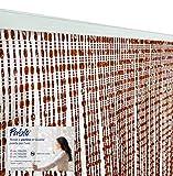 tex family Tenda Pablo © a Perline Anti Insetti Marrone in PVC antirumore (Cm. 100x220)