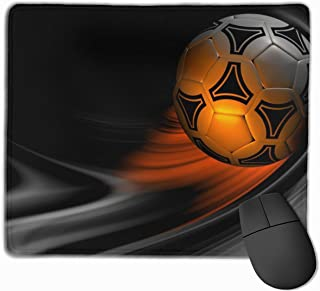 Yuotry Smooth Mouse Pad, Soccer Ball Mobile Gaming Mousepad Work Mouse Pad Office Pad