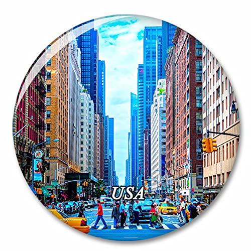 Estados Unidos America Street Nueva York Imán de Nevera, imánes Decorativo, abridor de Botellas, Ciudad turística, Viaje, colección de Recuerdos, Regalo, Pegatina Fuerte para Nevera