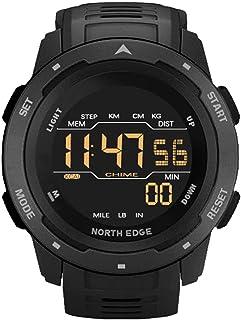 Męski zegarek cyfrowy fitness tracker męskie zegarki sportowe podwójny czas krokomierz budzik wodoodporny 50 m zegarek cyf...