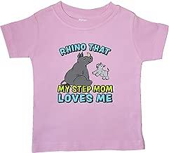 inktastic Rhino That My Stepmom Loves Me with Cute Rhinos Baby T-Shirt