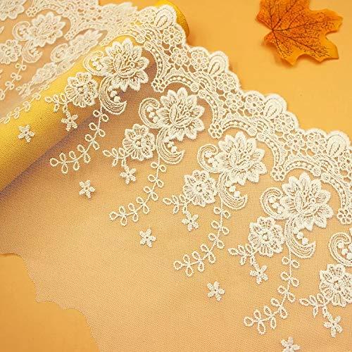 Tela de encaje floral para vestido de novia o boda, para manualidades,...