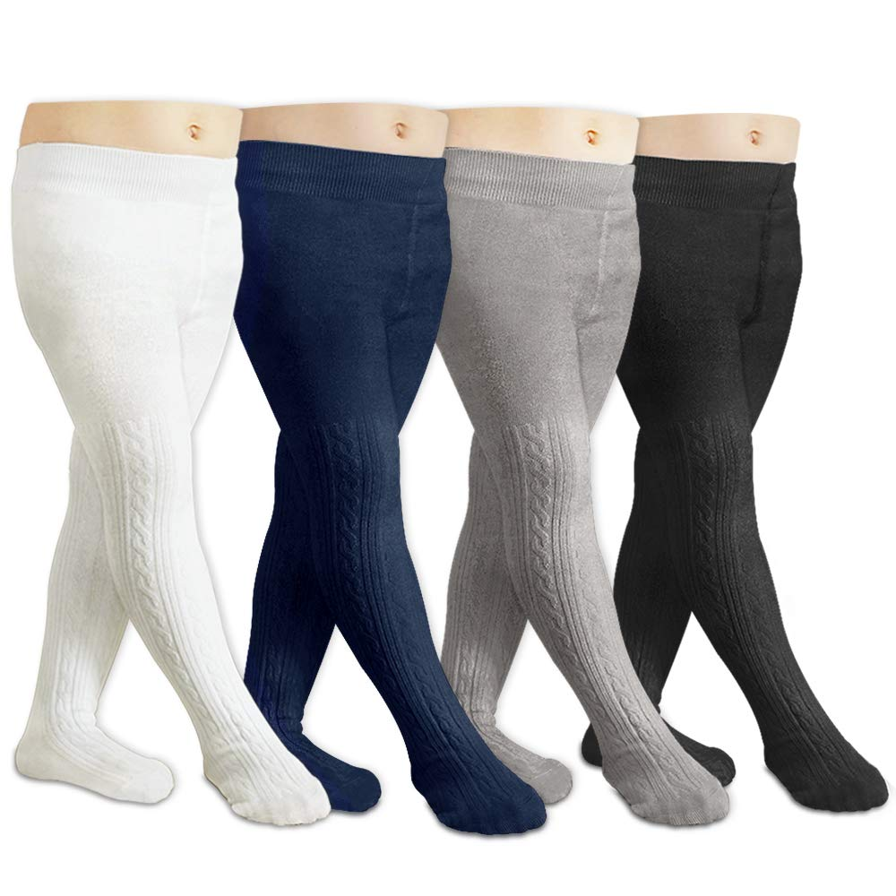 CozyWay Baby Girls Tights Cable Knit Leggings Stockings Cotton 3//5 Pack Pantyhose Infants Toddlers 6 months 1t 2t 4t