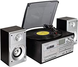 lcb Turntable, Bluetooth Turntable Player, 3-Speed Vinyl Record Player + Cassette Player + MP3 Player + CD Player + USB Re...