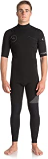 QUIKSILVER Syncro Series 2mm Short Sleeve Back Zip Wetsuit - Mens Jet Black - Perfect Wetsuit for Warm Conditions