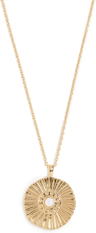 gorjana Women's Sunburst Coin Necklace