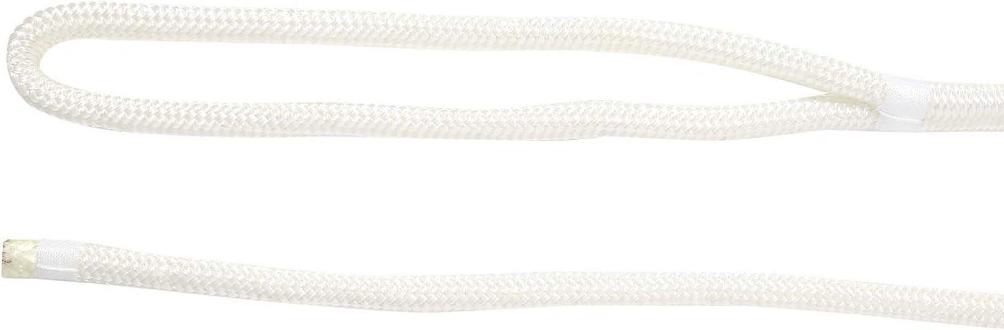 "NovelBee 2 Pack of 5//8/""x 50/' Double Braid Nylon Dockline,Mooring Rope Dock Line,Working Load Limit 1540 lbs,Breaking Strength 7,700 lbs"