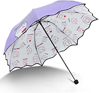 YQRYP Mini Travel Sun Umbrella &rain Umbrella - Light Compact Parasol with UV Protection for Umbrella Windproof Umbrella, Golf Umbrella (Color : Purple)