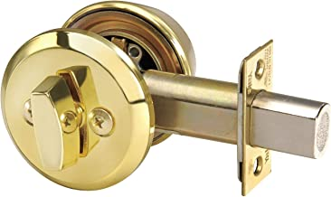 Yale Medium-Duty Bright Brass QDB2-Series Key Control Deadbolt, Single-Cylinder, Key Control - D212 x 605