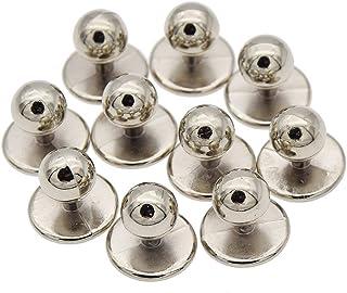 Botones para cocinero YNuth, para chaqueta de cocinero, varios colores, plástico, plástico, plata, Boden 1.8cm, Kopf 1.2c...