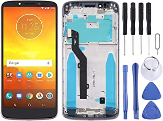 Mobile Phones Communication Accessories LCD Screen and Digitizer Full Assembly with Frame for Motorola Moto E5 (Color : Grey)