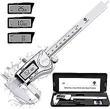 MOOCK Digital Caliper, Durable 6inch/150mm Stainless Steel Electronic Measuring Tool..