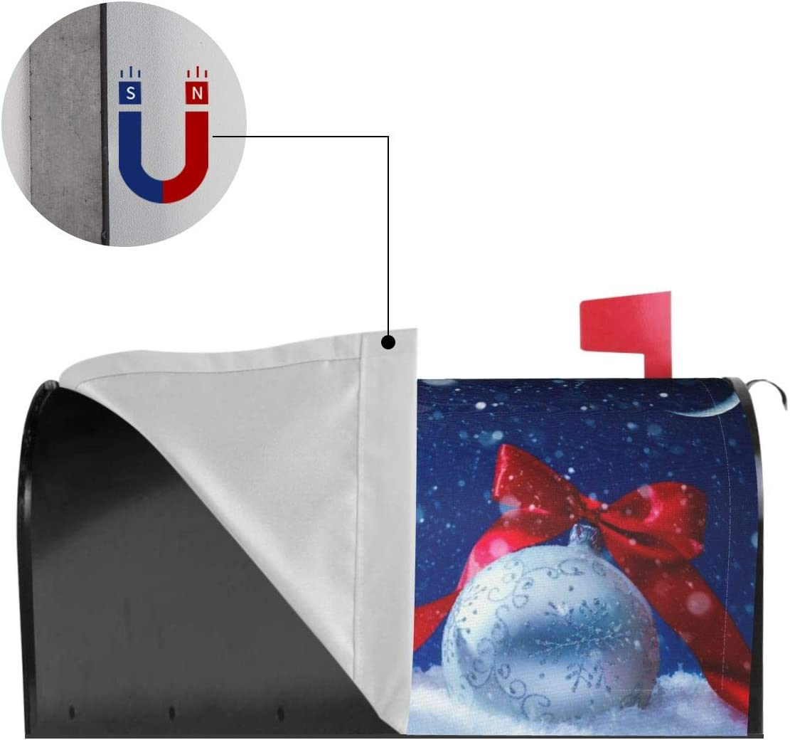 Christmas Winter Holiday Mailbox Covers Magnetic Mail Wraps Post Garden Decor 21x18 in Cute Gnomes Mailbox Cover