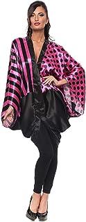 ZmuruD Multi Color Satin V Neck Kaftan & Kimono For Women
