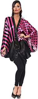 ZmuruD Multi Color Satin V Neck Kaftan & Kimono For Women