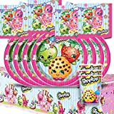 Shopkins Children's Birthday Complete Party Tableware Pack Kit For 16