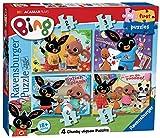 Ravensburger-6834 Ravensburger Bing Bunny-My First Jigsaw Puzzles (2, 3, 4 y 5 Piezas) Juguete para niños de 18 Meses y más, Multicolor (6834)
