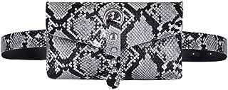 AiSi Sac Ceinture Femme Sport Randonn/ée Running Ville Sacoche Femme Sac Poitrine Femme Pochette Portefeuille en Tissu avec Peties Carreaux Noirs et Blancs