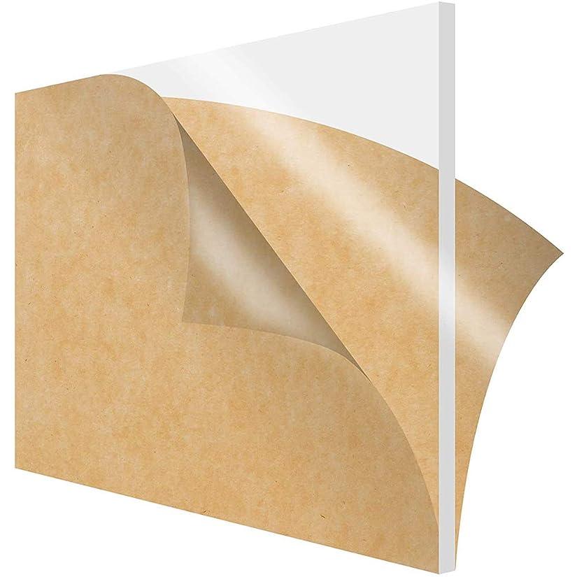 ご注意解釈するハブLOKIHアクリルプレキシガラスシート耐候性および耐紫外線性 太い:0.8センチメートル/ 0.31inch,30x50cm/11.8x19.7inch