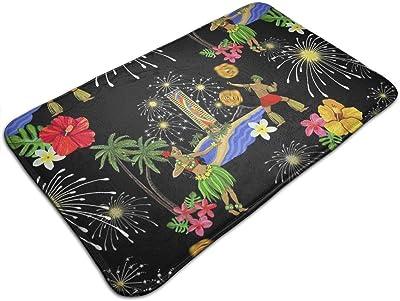 _TK-Wk_4_Friday_Night_Fireworks_in_Hawaii-Blk_4033 Personalized Custom Doormats Indoor/Outdoor Doormat Door Mats Non Slip Rubber Kitchen Rugs 23.6 x 15.8 inch
